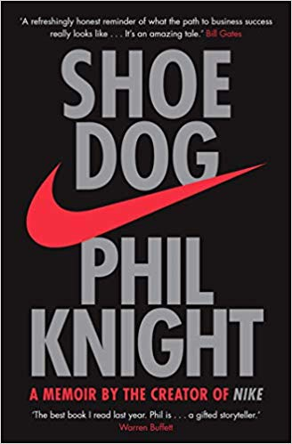 Front page of book Shoe Dog (Phil Knight)